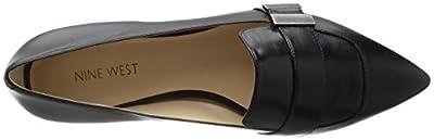 Nine West Women's Allen Leather Pointed Toe Flat