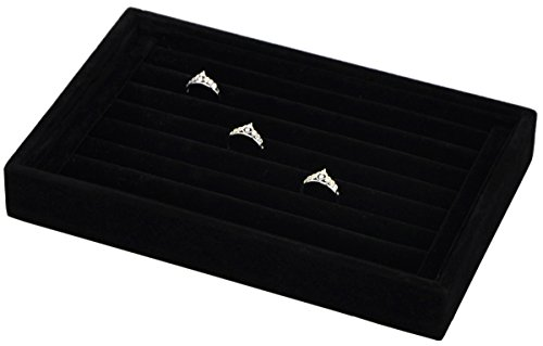Stackable Small Velvet Rings Insert Jewelry Tray Showcase Cufflinks Earrings Storage Organizer