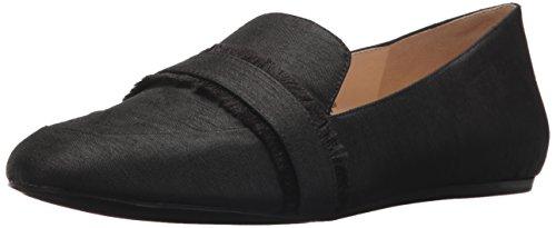 Nine West Women's Baruti Fabric Loafer Flat, Black, 7.5 Medium US (West Shoes For Nine Women Flat)