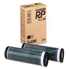 RISOGRAPH OEM DUPLICATOR INK FOR RP3700 - 2 HIGH DENSITY BLACK INK (S4386) - (Risograph Black Toner)