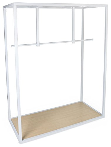 Displays2go Garment Hanging Rail Clothing Rack with Open, Minimalist Design – White (FRMRCKWT66) by Displays2go (Image #2)