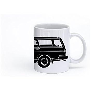 KillerBeeMoto: 11 Oz Limited Release Boxy Yet Safe Swedish Volvo 240 DL/GL Station Wagon Coffee Mug (White)
