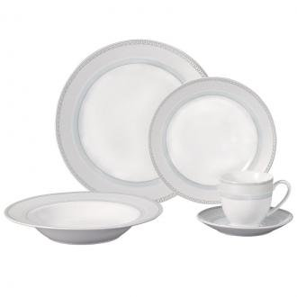 Lorren Home Trends LH80 Pattern 20 Piece Porcelain Dinnerwar