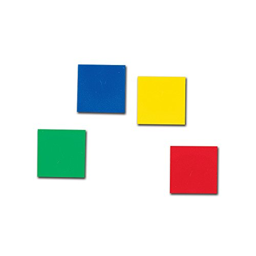 hand2mind 1-Inch Plastic Rainbow Color Tiles (Set of 400)