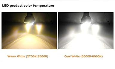 gu10 White 110v 1 Pack GU10 3W LED Bulbs 3W //110V White//Warm White Not Dimmable 60 Degree Beam Angle LED Spotlight Bulbs for Landscape Recessed Lighting,35W Halogen Bulbs Equivalent,