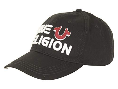 True Religion Horseshoe Black Strapback Baseball Cap Hat (One Size Fits Most)