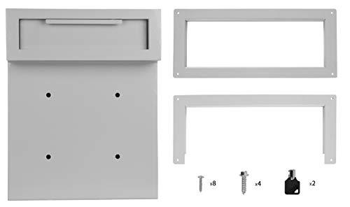 D500 DuraBox Through-The-Door Locking Drop Box Grey