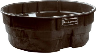 Amazon.com: Stock Tank 300 Gl Rubbermaid Black High-density ...