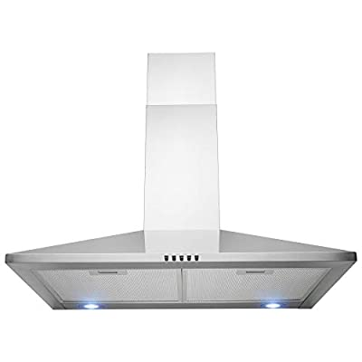 "FIREBIRD 30"" Wall Mount Stainless Steel Push Panel Kitchen Range Hood Cooking Fan"