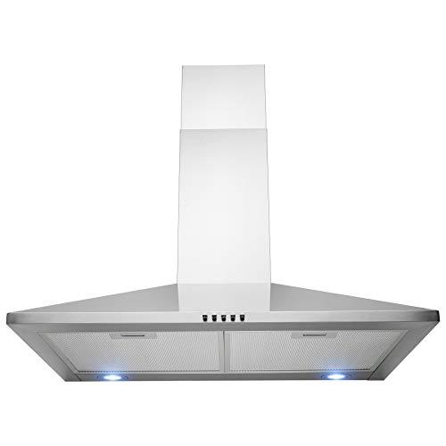 FIREBIRD 30″ Wall Mount Stainless Steel Push Panel Kitchen Range Hood Cooking Fan