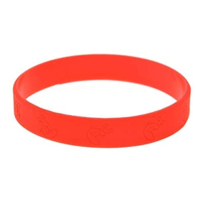 MAlex Silicone Wristbands for Men Encouragement and Kids Motivation Inch Red and Black Set Pieces Estimated Price £27.99 -
