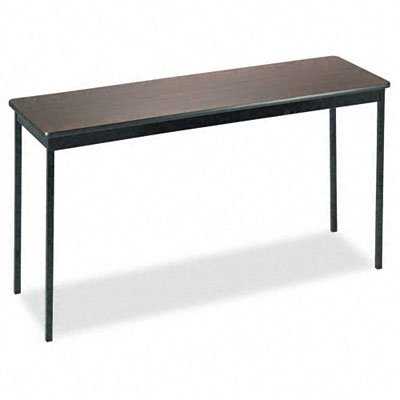 Barricks UT1860WA Utility Table, Rectangular, 60w x 18d x 30h, Walnut/Black by Barricks (Image #1)