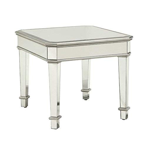 Coaster Home Furnishings Square Mirrored End Table Silver