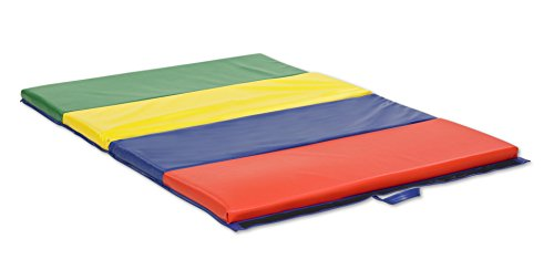 ECR4Kids SoftZone 4-Section Folding Panel Kids Tumbling Exercise Mat, 4 x 8 Feet, 2 Inches Thick
