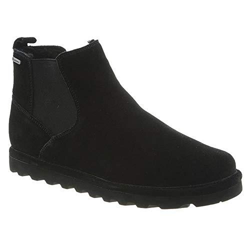 Bearpaw Mens Marcus Fashion Boots, Black Cow Suede, Wool, Sheepskin, Rubber, 13 M