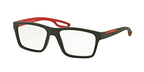 Prada PS07FV Eyeglass Frames UFI1O1-53 - Green Rubber