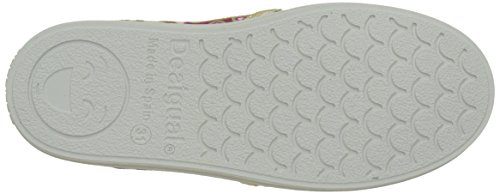 Desigual Mädchen Canvas Roller Flache Hausschuhe Weiß (white 1000)
