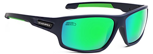 Officially Licensed NFL Sunglasses, Seattle Seahawks, 3D Logo on Temple - 100% UVA, UVB & UVC Protection