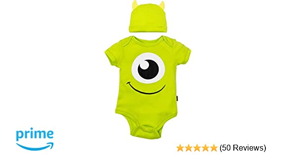 4afbba57b Amazon.com: Disney Pixar Monsters Inc. Mike Wazowski Baby Boys' Costume  Bodysuit & Hat Green: Clothing