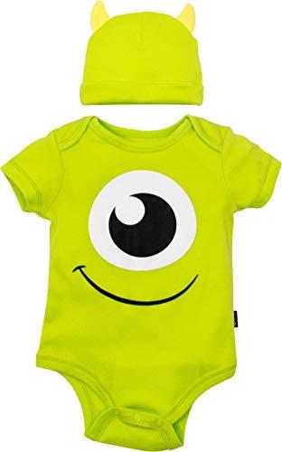 Disney Pixar Monsters Inc. Mike Wazowski Baby Boys' Costume Bodysuit & Hat Green, 18 Months]()