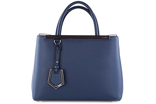 Fendi-womens-leather-handbag-shopping-bag-purse-petite-2jours-blu