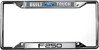F-150 Built Ford Tough Metal Zinc License Plate Frame Tag Holder Official