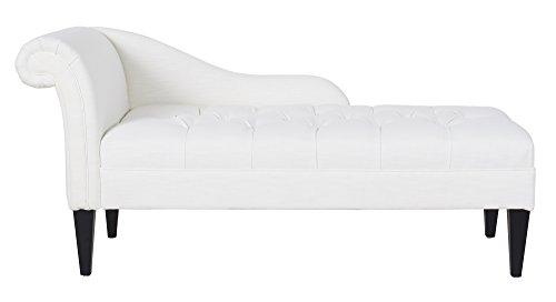 Jennifer Taylor Home 62020-879 Harrison Chaise Lounge, White