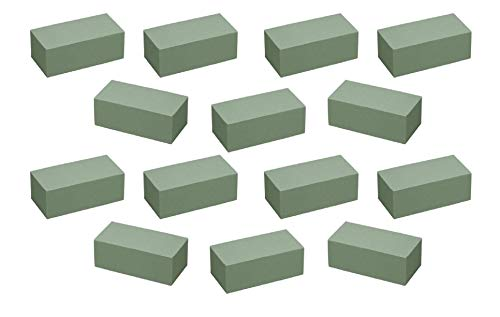 Floral Supply Online - Dry Floral Foam for Crafts, Artificial Flowers, Permanent Botanicals, and Projects. Pack of 14 Premium Bricks. (14k Brick)