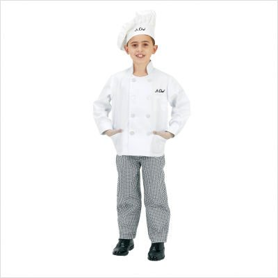 Jr Executive Chef Suit - Black Trim Toddler Costume Size 2-3 (Junior Executive Chef Hat)