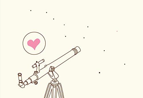 Lark Press Telescope Spots Love Blank Card, 3.5 X 4.75, Set of 6
