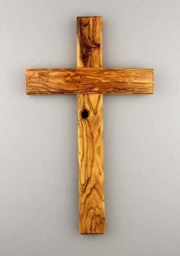 12 cm Croce da parete in legno di ulivo