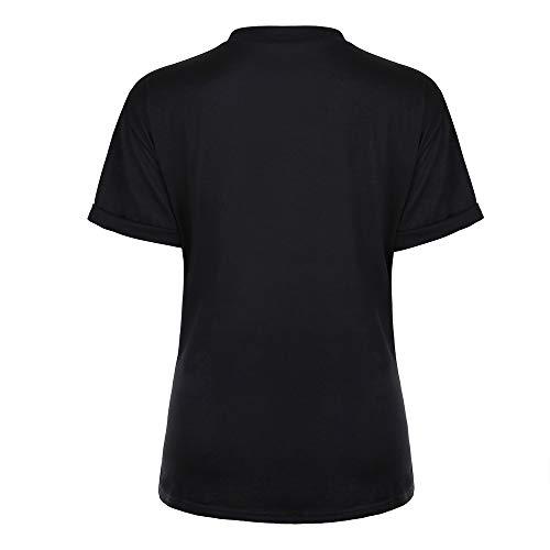 Geilisungren Camiseta de Mujer Manga Corta Blusa Camisa Cuello ...
