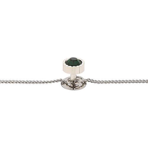 TRIPIN Brass Kurta Buttons with Diamond Crystal and Chain TSSPKURTA1961
