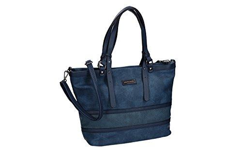 Borsa donna spalla con tracolla PIERRE CARDIN blu con apertura zip VN1361
