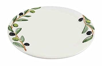 Kaheku Oliva Italienisches Keramik Geschirr Mit Relief Speiseteller