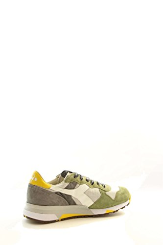 Diadora Heritage, Uomo, Trident 90 C SW Olive, Pelle/Canvas, Sneakers, Verde, 42 EU