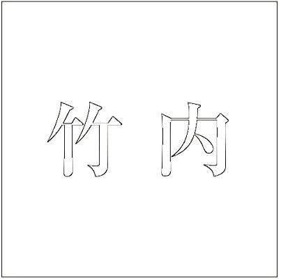切文字 カッティングシート 明朝文字 ホワイト 200×200mm表札板用 竹内 オーダーメイド 納期8営業日