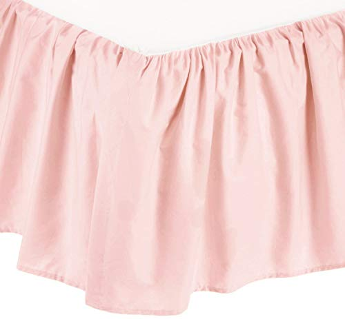 (American Baby Company 100% Natural Cotton Percale Portable Mini Crib Skirt, Blush Pink, Soft Breathable, for Girls)