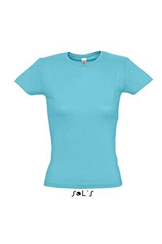 Sols - Miss - Damen T-Shirt figurbetonend , Atoll blue , S