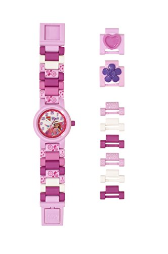 Pink Watch Plastic (LEGO Watches and Clocks Girl's Quartz Plastic Watch, Color:Pink (Model: 8021247))
