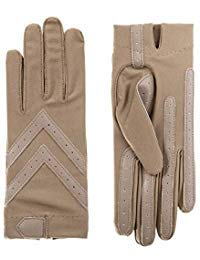 Isotoner Short Tech Touch Driving Gloves, Taupe, Large/Extra Large ()