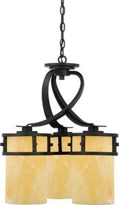 Quoizel KY5103IB Kyle Faux Alabaster Downlight Mini Chandelier, 3-Light, 300 Watts, Imperial Bronze (22