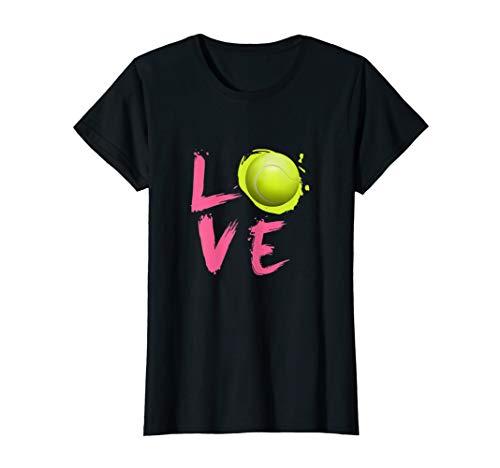 Table Tennis Player Costumes - Womens Funny Love Tennis T-shirt Tennis