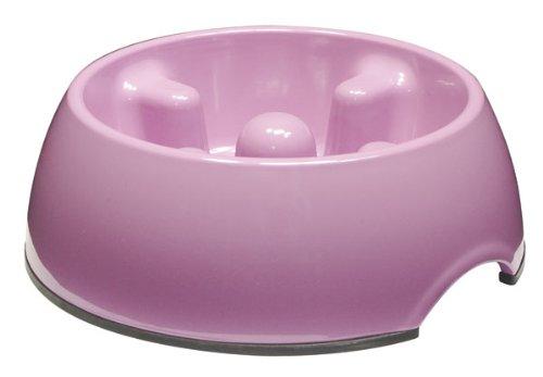 Dogit Go Slow Anti-Gulping Dog Bowl, Pink, Small