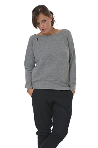 fata donna Maglione con grigio 3elfen colletto Donna Maglione da donna Off piccolo nero spalla Maglione da q0wOFzCq