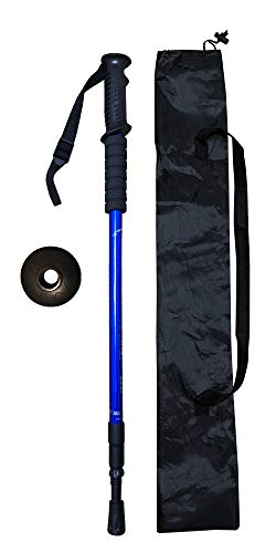 INNO SPORTS Trekking Poles - Stretchable, Superlight, Aluminium Hiking/Walking Sticks with Rubber/Cork Grips and Spin Locks, Terrain Accessory and Carry Bag (Blue)