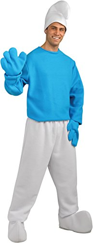 Rubie's Men's Smurf Deluxe Adult Costume, Smurfs: The Lost Village, (Smurf Adult Standard Costumes)