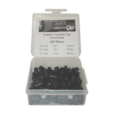 Technicians Choice OPK12-A Rubber Vacuum Cap Assortment (100 Pcs): Automotive