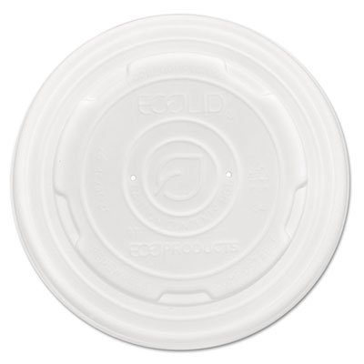 Ecolid Renew & Comp Food Container Lids, F/12,16, 32oz, 50/pk, 10 Pk/ct