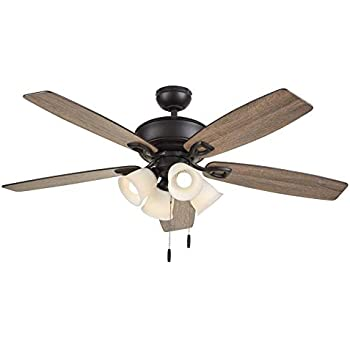 Harbor Breeze Notus 52 In Bronze Led Indoor Residential Ceiling Fan With Light Kit Included 5